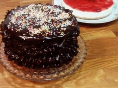 Así quedó la trata :)  Me ha faltado chocolate Seguiré practicando para grabarla y compartirla :)