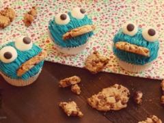 Cupcakes del Monstruo de las Galletas.