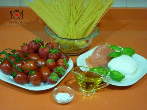 Espaguetis con fresas
