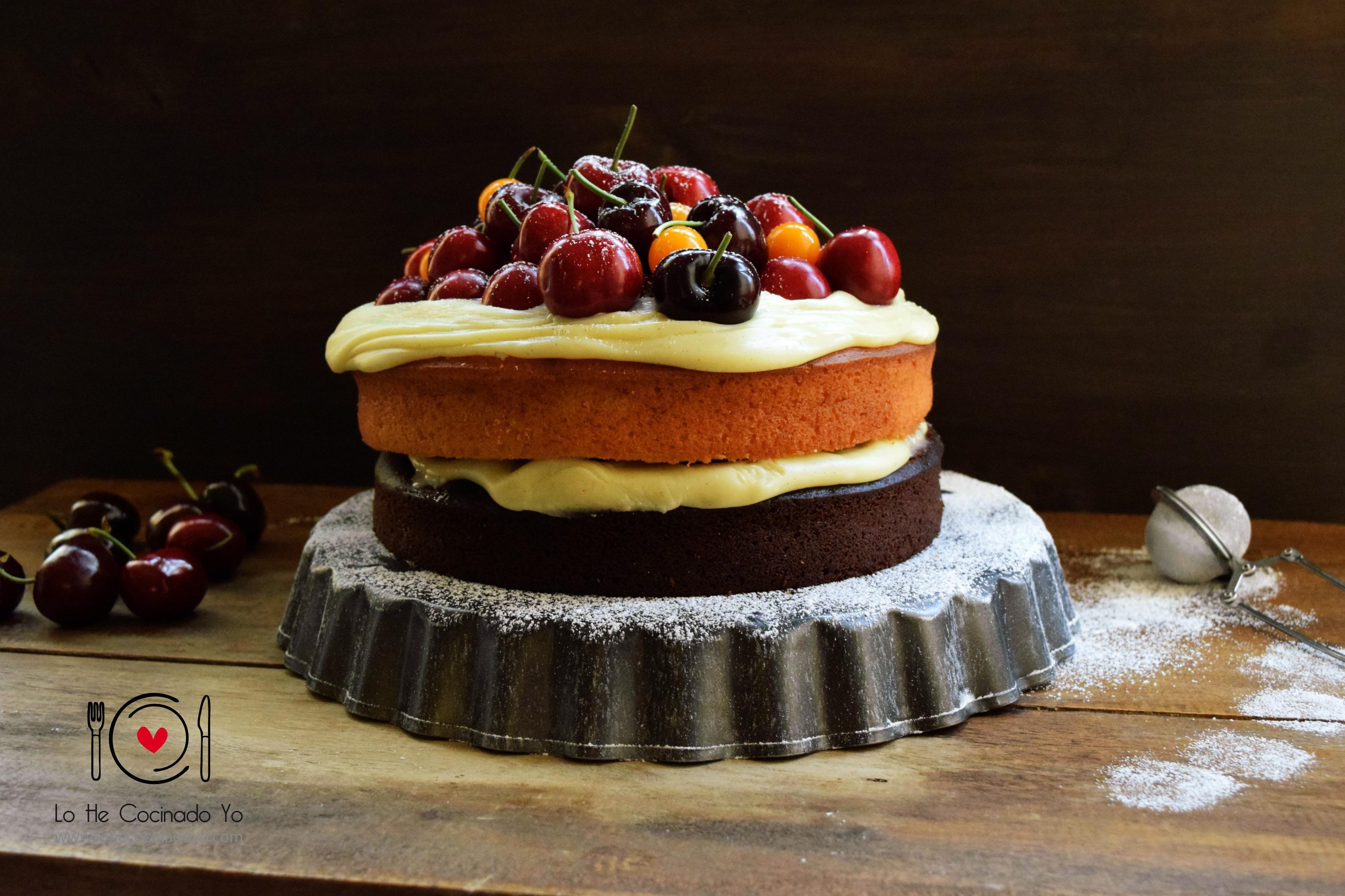 Layer Cake de Chocolate y Cerezas