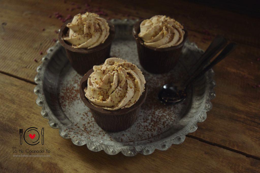 Vasitos de Chocolate Rellenos de Chocolate