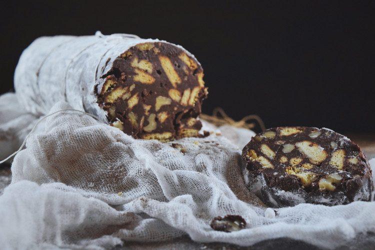 Salami de Chocolate y Nueces